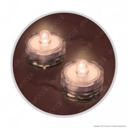 Set 2 Tea Light LED Sommergibili a Luce Fissa
