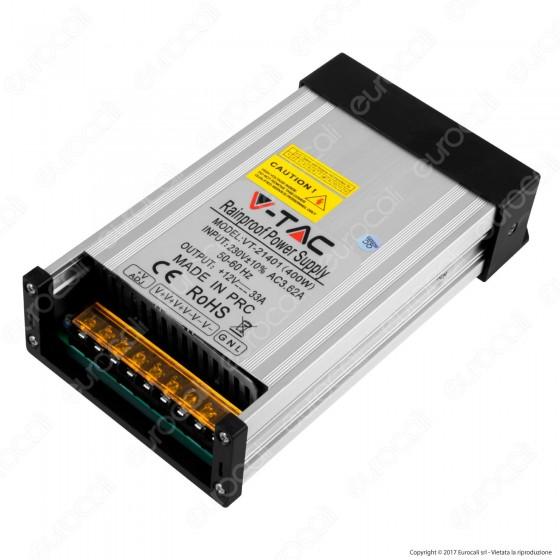 V-Tac VT-21401 Alimentatore 400W Rainproof IP45 a 3 Uscite con Morsetti a Vite - SKU 3233