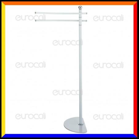 Piantana in Metallo Bianco Porta Asciugamani - PT33