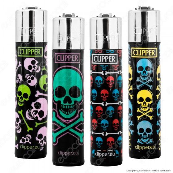 Clipper Large Fantasia Color Skulls - 4 Accendini
