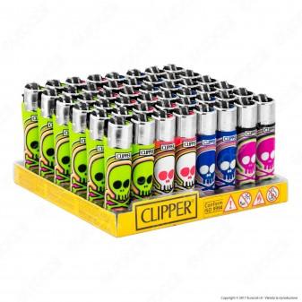 Clipper Micro Fantasia Skulls Candy - Box da 48 Accendini