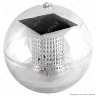 Sfera Galleggiante Luce LED con Sensore Crepuscolare e Pannello Solare