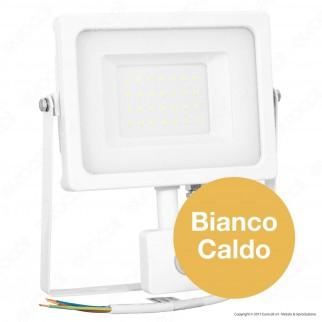 V-Tac VT-4933 PIR Faretto LED 30W Ultra Sottile Slim con Sensore Colore Bianco - SKU 5822 / 5823