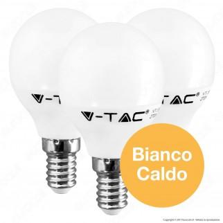 V-Tac VT-2156 Super Saver Pack Confezione 3 Lampadine LED E14 5,5W MniGlobo - SKU 7357 / 7359 ⭐️PROMO 3X2⭐️