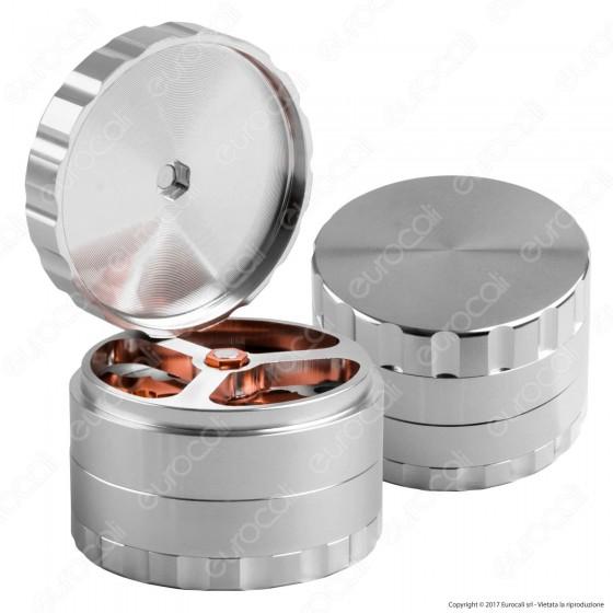Grinder Blitz Tritatabacco 4 Parti in Metallo - con Chiave per Smontaggio Lame