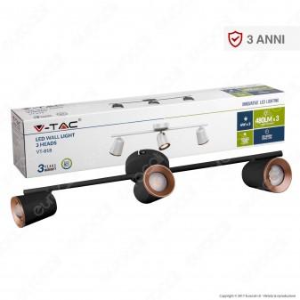 V-Tac VT-818 Lampada da Muro Wall Light LED 18W Colore Bianco - SKU 8258 / 8260
