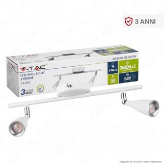 V-Tac VT-810 Lampada da Muro Wall Light LED 9W Colore Bianco - SKU 8266 / 8268