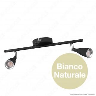 V-Tac VT-810 Lampada da Muro Wall Light LED 9W Colore Nero - SKU 8267 / 8269