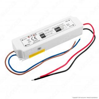 V-Tac VT-22061 Alimentatore 60W Impermeabile IP67 a 1 Uscita con Cavi a Saldare - SKU 3234