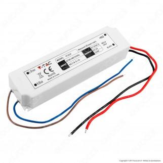 V-Tac VT-22101 Alimentatore 100W Impermeabile IP67 a 1 Uscita con Cavi a Saldare - SKU 3236