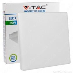 V-Tac VT-8066SQ Plafoniera LED 25W Forma Quadrata Colore Bianco - SKU 1395 / 1396 / 1397