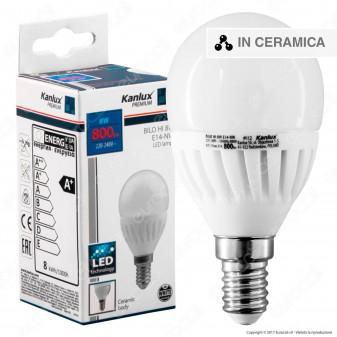 Kanlux BILO HI Lampadina LED E14 8W MiniGlobo P45 - mod.26762 / 26763
