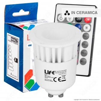 Life Lampadina LED GU10 4W Faretto Spotlight RGB con Telecomando