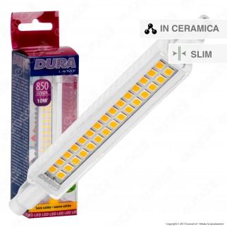 Duralamp Lampadina Erre7s LED R7s L118 10W Bulb Tubolare Slim