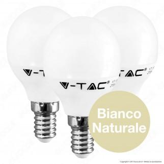 V-Tac VT-2156 Super Saver Pack Confezione 3 Lampadine LED E14 5,5W MniGlobo - SKU 7357 / 7358 / 7359 ⭐️PROMO 3X2⭐️