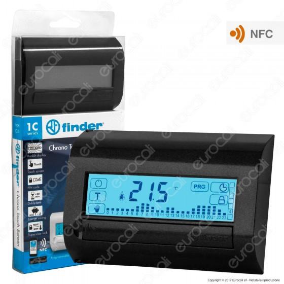 Finder Serie 1C Cronotermostato Touch Screen Settimanale con NFC 5A mod. 1C.81
