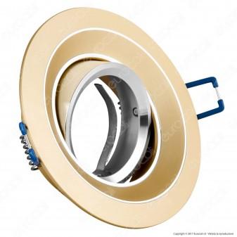 Kanlux COLIE DTO-W Portafaretto Orientabile Rotondo da Incasso per Lampadine GU10 e GU5.3