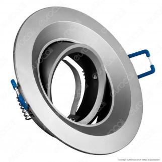 Kanlux COLIE DTO-GR Portafaretto Orientabile Rotondo da Incasso per Lampadine GU10 e GU5.3