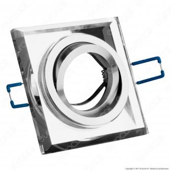 Kanlux MORTA CT-DTL50-SR Portafaretto Orientabile Quadrato da Incasso per Lampadine GU10 e GU5.3