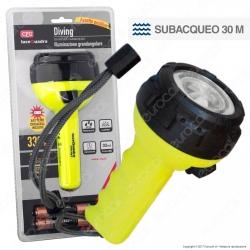 CFG EL043 Torcia LED Subacquea Fino a 30 mt a Batterie