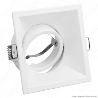 Kanlux IVRI DTL-W Portafaretto Orientabile Quadrato da Incasso per Lampadine GU10 e GU5.3