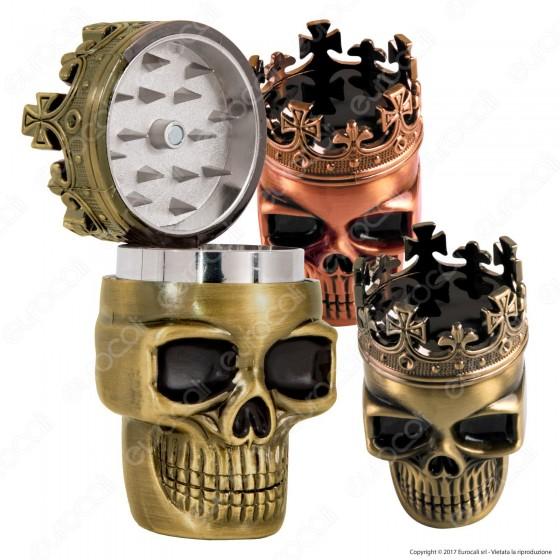 Champ Grinder Skull Tritatabacco 3 Parti in Metallo