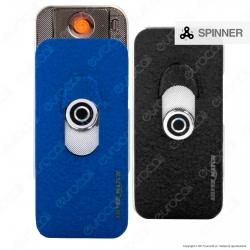Silver Match Accendino USB Spinner in Metallo Antivento Ricaricabile - 1 Accendino