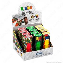 Champ Rubik's Accendino USB Ricaricabile Antivento - Box di 12 Accendini