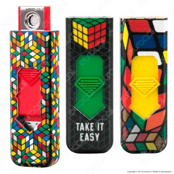 Champ Rubik's Accendino USB Ricaricabile Antivento - 1 Accendino
