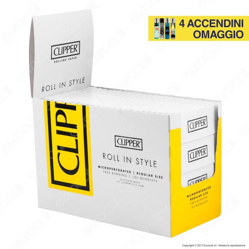 Cartine Clipper Bianche Corte - Scatola da 100 Libretti