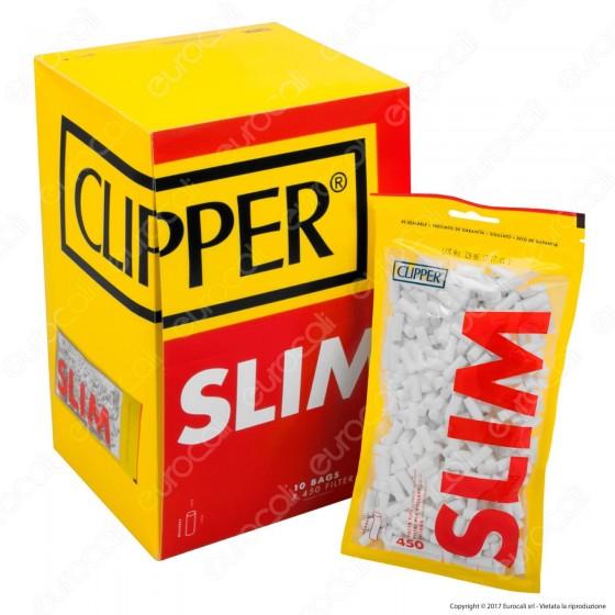 Clipper Slim 6mm Lisci - Box 10 Bustine da 450 Filtri