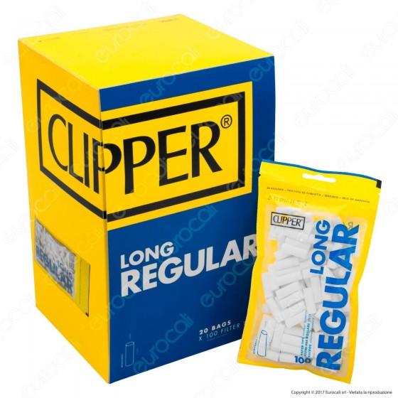 Clipper Regular 8mm Lunghi Lisci - Box 20 Bustine da 100 Filtri
