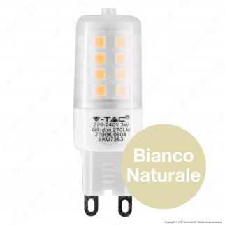 V-Tac VT-2083D Lampadina LED G9 3W Bulb Dimmerabile - SKU 7253 / 7254 / 7255