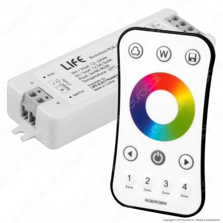 Life KIT RGB Controller Dimmer con Telecomando per strisce LED 12-24V - mod. 16.LT5RCK