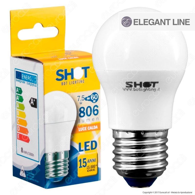 Lampadina led e27 7 5w miniglobo bot lighting shot g45 for Shot bot lighting