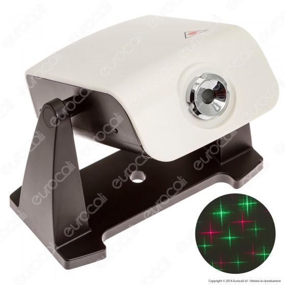 Proiettore Laser Verde e Rosso con 3 motivi intercambiabili - per Interno