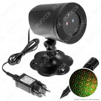 Proiettore Garden Laser Blu e Rosso con Telecomando - per Interno e Esterno