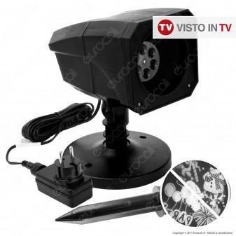 Proiettore LED mod. Oscar con 12 Soggetti Intercambiabili - per Esterno