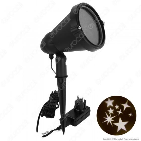 Proiettore LED Garden Professionale in Metallo Effetto Stelle Rotanti - per Esterno