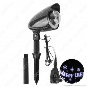"""Proiettore LED Garden Scritta Rotante """"Merry Christmas"""" - per Esterno"""
