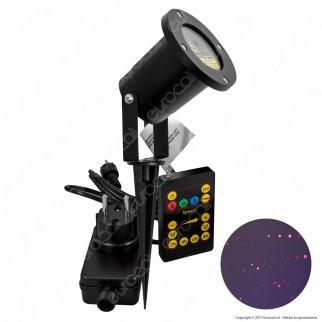 Proiettore Garden Laser Rosso con Telecomando - per Interno e Esterno