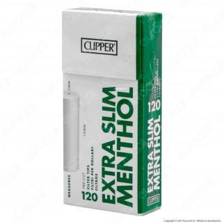 Clipper Extra Slim 5,5mm Lisci al Mentolo - Scatolina da 120 Filtri