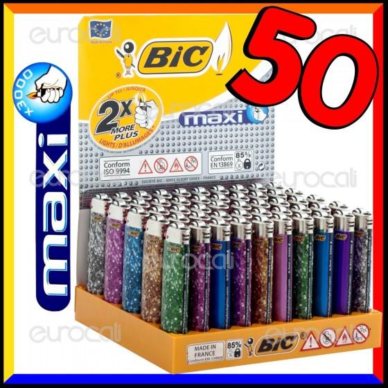 Bic Maxi Grande Fantasia Glitter - Box da 50 Accendini