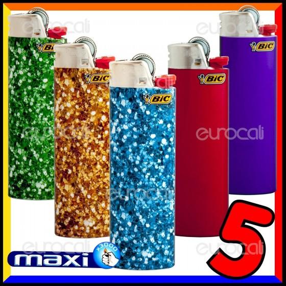 Bic Maxi Grande Fantasia Glitter - 5 Accendini