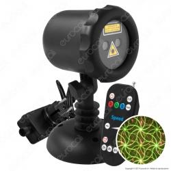 Proiettore Garden Laser Verde e Rosso con Telecomando 20 Effetti - per Interno e Esterno