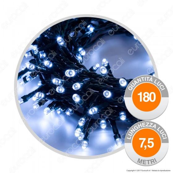 Catena 180 Luci LED Reflex Bianco Freddo con Controller - per Interno e Esterno
