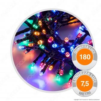 Catena 180 Luci LED Reflex Multicolore con Controller - per Interno e Esterno