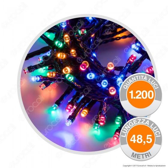 Catena 1200 Luci LED Reflex Multicolore con Controller Memory - per Interno e Esterno