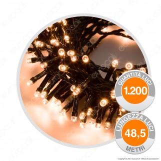 Catena 1200 Luci LED Reflex Bianco Naturale con Controller Memory - per Interno e Esterno