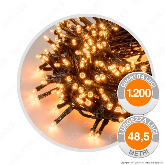 Catena 1200 Luci LED Reflex Bianco Caldo con Controller Memory - per Interno e Esterno